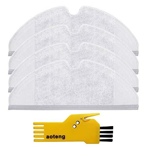 Mikrofaser Tücher Ersatz Mop Pads für Xiaomi Mi Staubsauger Roboter 4 Stück