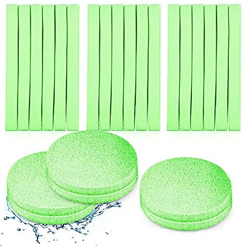 120 Piezas de Esponja Facial Comprimida Esponja Limpiadora Facial Almohadilla de Esponja Desmaquillante Esponja Facial Redonda de Lavado Exfoliante (Verde)