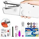 Xpassion Mini Macchina da Cucire Portatile, Handheld Cordless Strumento di Cucitura Rapida, AA Batteria Alimentato, Casa E Viaggio per Vestiti, Stoffa, Tenda, e Fai-da-Te