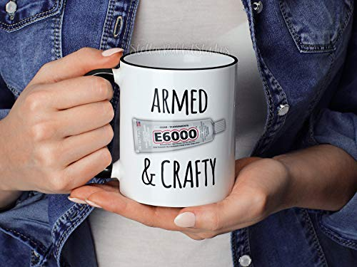 Gewapende en Crafty Mok Makers Koffiemok E6000 Craft Mok Creatieven Koffiemok Gewapend en Gevaarlijke Mok Hot Lijm Gun Mok Crafting Mok