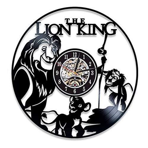 LTOOD Lion King, Disco de Vinilo, Reloj de Pared, explosión de Deseo de Ebay Ebay, 12 Pulgadas, Estilo 15 Negro