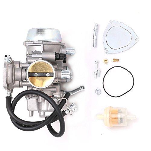 ATV Carburetor Carb for 5KM-14901-00-00 Yamaha 1998-2001 Grizzly 600 YFM600, 2002-2008 Grizzly 660 YFM660, 2004-2007 Rhino 660, Replace 5KM-14901-10-00 2C6-14901-00-00