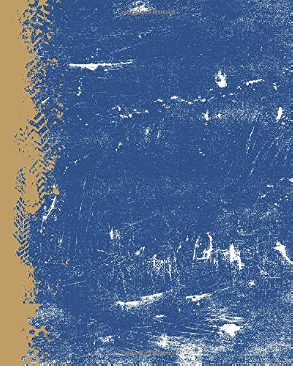 無一文デンマーク語つまらないRoyal Blue And Gold: (8 x 10 Lined) Blank Grunge Team Color Notebook College Ruled