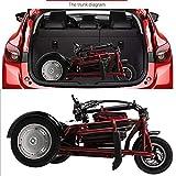 Lyanh Triciclo eléctrico Plegable Adecuado para los Ancianos Scooter de Ocio al...