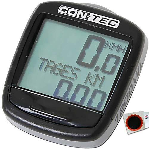 CONTEC Fahrradcomputer C-1200 kabellos ATS 4250311337616 +Flicken
