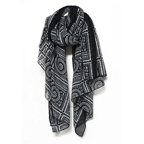 Lymocha 1 Pieza Estolas fulares de Mujer,Bufanda Cálida de Invierno Pañuelos para el Cuello Suave y Cómoda Ropa de Fiesta, Deportes al Aire Libre, Regalos de cumpleaños (Negro)
