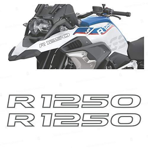 2pcs Adhesivo R1250 Compatible con BMW Motorrad R1250 GS Adventure R 1250 HP 2019 (Grey)