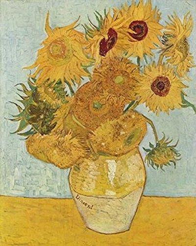 Impresión sobre lienzo: Van Gogh, Jarrón de girasoles (1888) 50x 70cm, sin marco