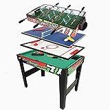 SEESEE.U 3FT 4 in 1 Spieltisch mit Fußball Fußball Tischtennis Hocky Billard Multifunktionstisch Geburtstagsgeschenk