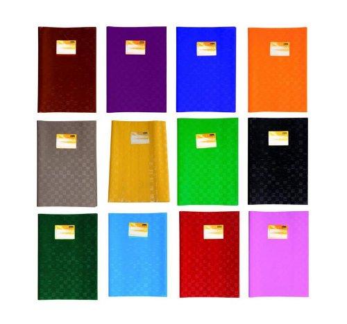 12 Heftumschläge/Hefthüllen DIN A4 / Baststruktur / 12 verschiedene Farben
