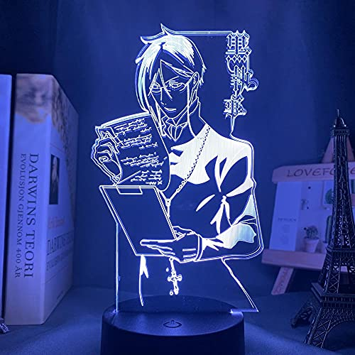 Luces De Anime 3d Led,Anime Light Black Butler Llevó La Luz De La Noche,DecoracióN Del Dormitorio,Regalo Colorido De La Luz Nocturna Luces De Noche Led De Anime