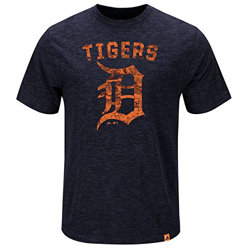Majestic MLB Baseball T-Shirt Detroit Tigers Hours and Hours in SMALL (S)