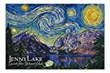 Grand Teton National Park, Wyoming - Jenny Lake - Starry Night - 500 Piece Jigsaw Puzzles for Adults Kids, Puzzles for Toddler Children Boys and Girls 15' x 20'