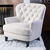 Christopher Knight Home Tafton Fabric Club Chair, Ivory