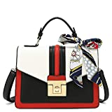 Scarleton Medium Top Handle Satchel Handbag for Women, Purses for Women, Tote bag for Women, H206502, Red/White