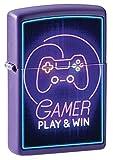 ZIPPO – Game Design Play & Win - Deep Purple Matte - Color Image- Mechero para tormentas, Recargable, en Caja de Regalo