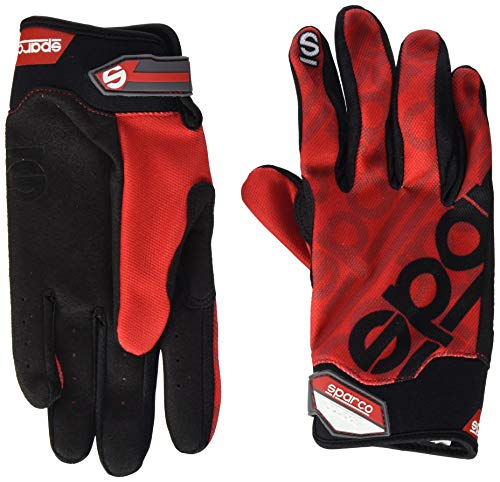 Sparco 002093RS2M Handschuhe Meca 3 Tg. M Red, rot, M