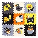 BUCHAQIAN Premium-Qualität Extra Dicke, mehrfarbige Eva-Schaumstoff-Bodenfliese für Kinder - Große Abdeckung für Kinder Soft Play P011G3010