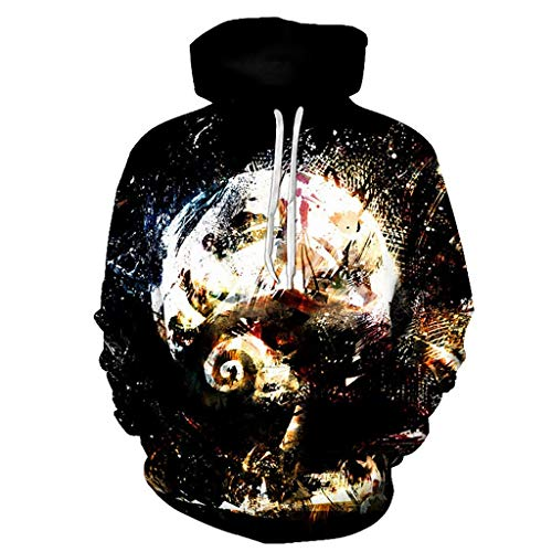 Boy Girl Athletic Casual 3D Pattern Print Hoodie, Unisex Fashionable Cool Pullover Hooded Sweatshirt 3D Printed Colorful Abstract Doodle Pattern Fashion Personality Outwear with Big Pockets