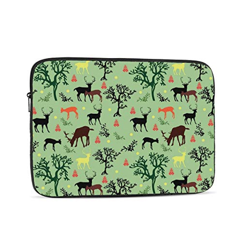 Deers and Trees Laptop Sleeve Bag Compatible with 10-17 Inch Fashion Computer Bag Laptop Case