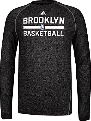 adidas Brooklyn Nets NBA Practice ClimaLite Performance Long Sleeve T-Shirt Camicia
