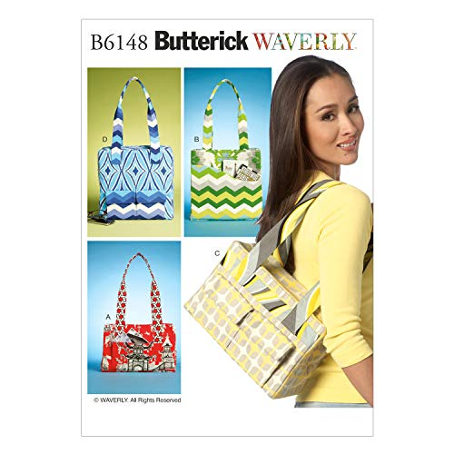 Butterick Patterns B6148 Tote Bags Sewing Template, All Sizes