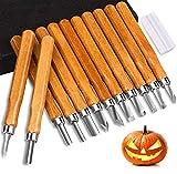 Holz Schnitzwerkzeug Set 12-tlg, Ideales Schnitzmesser Set für AnfäNger und Profis,Kann für Halloween-KüRbisschnitzereien Verwendet Werden