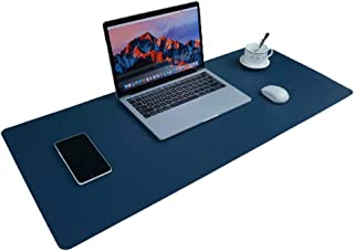 Large Desk Pad Mouse Pad, Aisakoc 35.4x15.75 Inches Non-Slip PU Leather Desk Mouse Mat Waterproof Desk Pad Protector Gamin...
