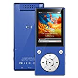 CFZC Lecteur MP3 Bluetooth 4.2,16 Go Lecteur de Musique MP3 Haut-Parleur intégré avec Lecteur d'écran sans Perte de Son écran 2,4 Pouces, Prend en Charge Les Cartes SD jusqu'à 128 Go(Sportif Gratuit)