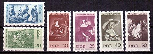 Briefmarken DDR 1967, Mi.Nr. 1286-1291, Vermisste Gemälde, Postfrisch **