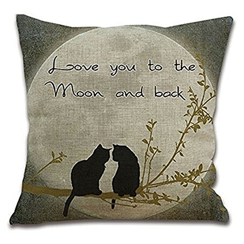 Bluelans Home Decor Cotton Linen Cushion Cover Throw Pillow Case Square 17 X 17' (#16)