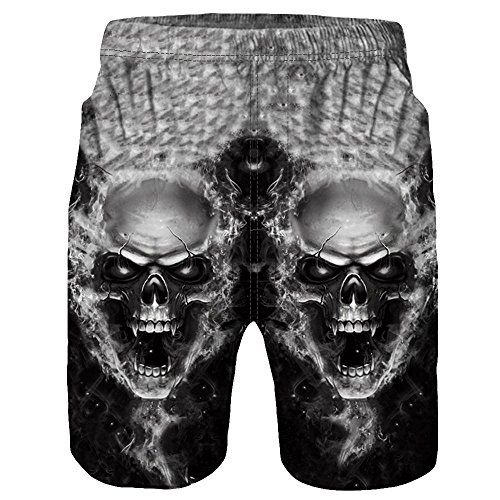 Herren Shorts, Kanpola Casual Männer 3D Gedruckt Kurze Hosen Sport Jogger Unterhose Sporthose Boxershorts Retroshorts Casual Strand Badehose...
