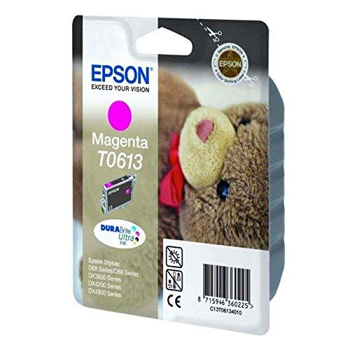 Epson C13T06134010 / T0613 - Cartucho de tinta para impresora (250 páginas, 8 ml), color magenta