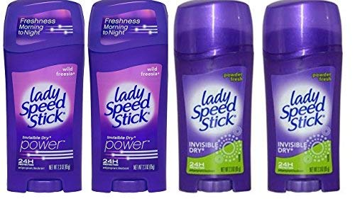 Lady Speed Stick Antitranspirant Deodorant, Invisible Dry, Wild Freesie 2,30 Unzen (4 Stück)