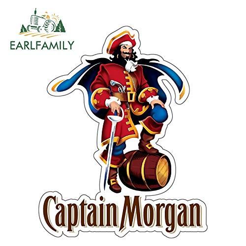 BLOUR EARLFAMILY 13 cm x 10,3 cm Captain Morgan Aufkleber Aufkleber Rum Alkohol Auto Stoßstange Persönlichkeit wasserdichtes Zubehör