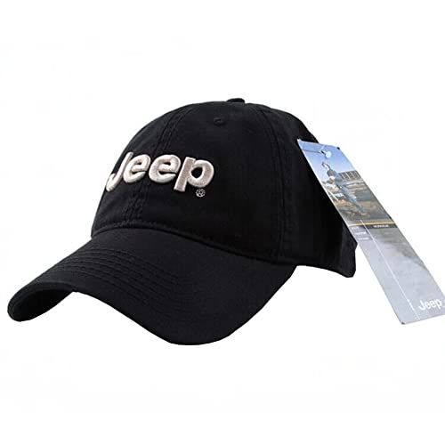 1f1dcbdd749 Jeep Embroidered Logo Solid Color Adjustable Baseball Caps for Men and Women
