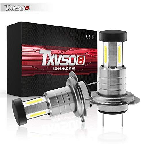 Perfuw H7 LED Ampoules, 26000LM, 6000K Blanc, Super Brillant Réflecteur Réglable 360,...