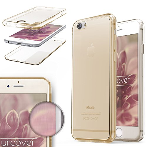 Urcover® TPU Ultra Slim 360 Grad Hülle kompatibel mit Apple iPhone 6 / 6s Handyhülle Schutzhülle Hülle Cover Etui Champagner Gold