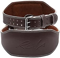 "RDX Weight Lifting Belt 6"" Cow Hide Leather"