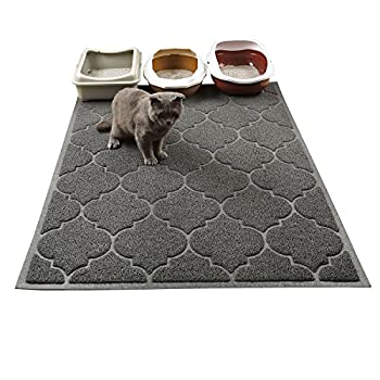 Cat Litter Mat XL Super Size Phthalate Free Easy to Clean 46x35 Inches Durable Soft on Paws Large Litter Mat.