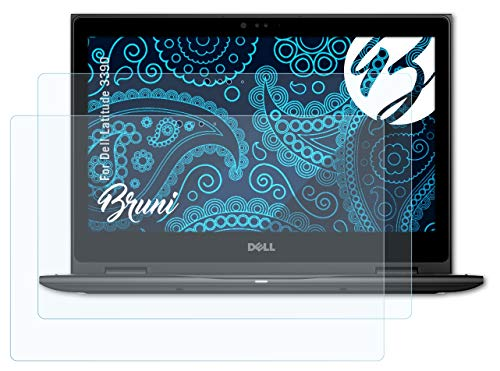 Bruni Screen Protector compatible with Dell Latitude 3390 Protector Film, crystal clear Protective Film (2X)