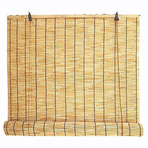 GaoLP Persianas de Bambú,Natural Persianas Enrollables de Caña, Persianas de La Terraza del BalcóN Interior y Exteriores,Tamaño Personalizable
