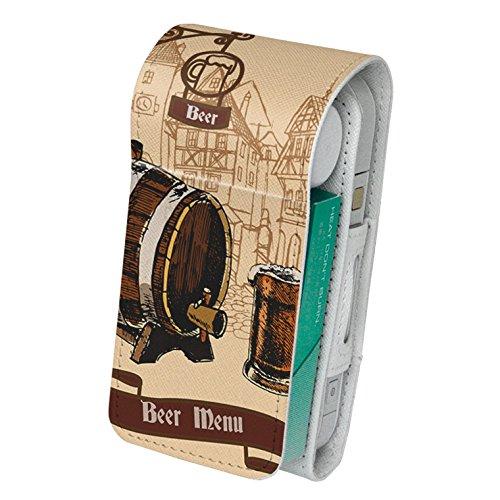 スマコレ IQOS専用 レザーケース 【従来型/新型 2.4PLUS 両対応】 専用 ケース カバー 合皮 カバー 収納 その他 ビール イラスト 建物 006906