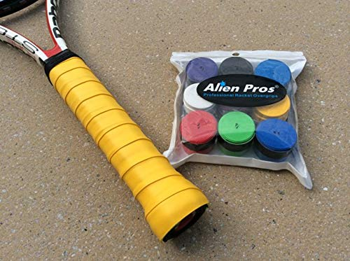 Alien Pros Comfortable Tacky-Feel Sweat-absorptive Durable 9 Colors Overgrips Pack of 9 Pieces