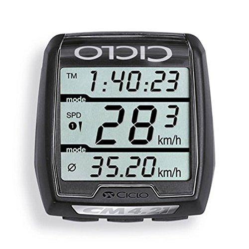 Ciclosport 10104410 Draadloze fietscomputer met hartslagmeter 4,21 Hr, zwart