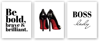 CHDITB Modern Fashion Women Art Painting Inspirational Lettering Art Picture,High Heels..