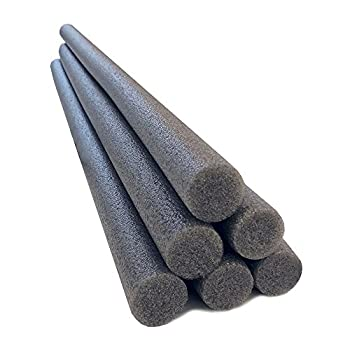 Oodles of Noodles 1.5 Inch x 35 Inch Solid Foam Foam Sticks for Craft Projects- 6 Pack - Grey