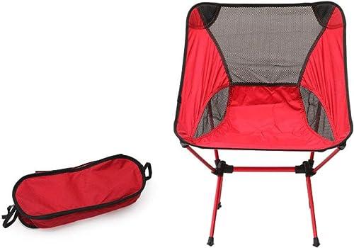 XUHommesG Klappbarer Campingstuhl mit Tragetasche – kompakter, ultraleichter Faltbarer Strandstuhl – de plein air Stuhl für sac à dosreisen, Wandern, Camping