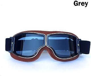 QXFJ Cycling Sunglasses Gafas de Ciclismo graduadas Marco De PPE Lente De PC Harley Gafas De Casco Vintage Gafas De Motocicleta Todoterreno Gafas De Ciclismo Retro Gafas De ProteccióN