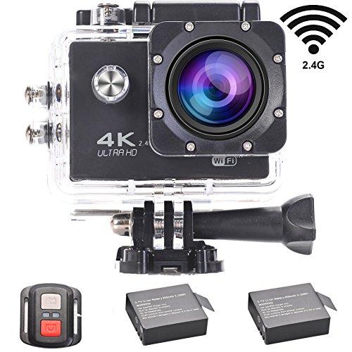 LMT 4 K Slow Motion subacquea Action Camera WiFi 2.0 LCD ultra HD video 16 MP 170 obiettivo grandangolare Dual schermi impermeabile sport Cam con 2 batterie e accessori Full Kits